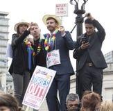 Anti-austerità marzo fotografia stock