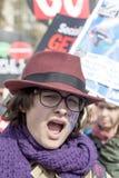 Anti-austerità marzo immagine stock