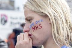 Anti-austerità marzo fotografie stock