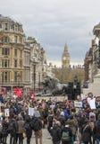 Anti-austerità marzo fotografie stock libere da diritti