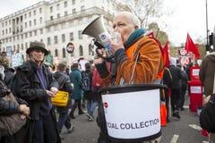 Anti-austerità marzo Fotografia Stock Libera da Diritti
