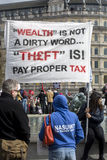 Anti-Austerity March. Royalty Free Stock Image