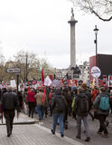 Anti-Austerity March. Royalty Free Stock Images