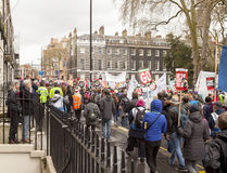 Anti-Austerity March. Stock Photography