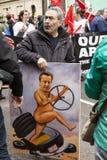 Anti-Austerity March. Stock Photos