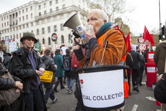 Anti-Austerity March. Royalty Free Stock Photography