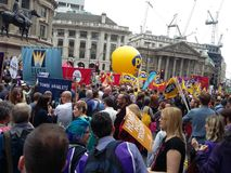 Anti Austerity march 2015 Royalty Free Stock Photos