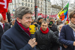 Anti-Austerity Protest, Paris Stock Images