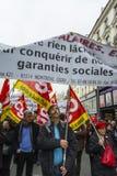 anti austerityparis protest Royaltyfria Bilder