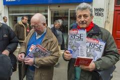 anti austerityparis protest Royaltyfri Bild