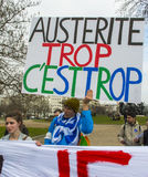 anti austerityparis protest Royaltyfria Foton