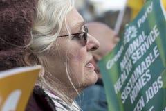 Anti-austérité mars Photographie stock libre de droits