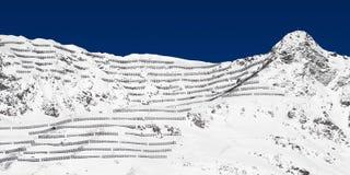 Anti-avalanche. An anti-avalanche system in austrian Alps (Galtür stock photos