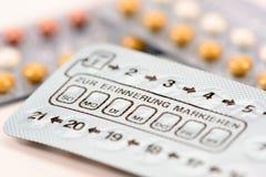 Anti-Baby-Pillen lizenzfreie stockbilder