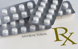 Anti bacterial medication Stock Photo