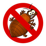 Anti bedbug sign Royalty Free Stock Photography
