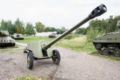 Anti--behållare för mm D-48 85 vapen Royaltyfria Bilder