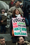 Anti berlusconi demonstration Stock Images