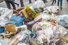 Anti-Brexit unterzeichnen herein Abfall auf den Straßen von London stockfoto