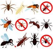 Anti bugs (mosquito, termite, ant, etc). A vector collection of bugs (mosquito, termite, ant, etc) for PEST control Stock Photos