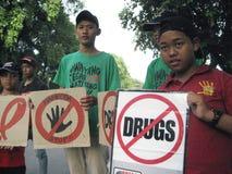 Anti campagna di stupefacente Fotografie Stock Libere da Diritti