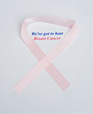 Anti-cancer logo and slogan. Royalty Free Stock Photo