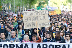 Anti capitalism demonstration on May Day 2012, Bar Royalty Free Stock Photo