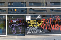 Anti capitalism demonstration on May Day 2012, Bar Royalty Free Stock Photos