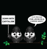 Anti capitalism protest Royalty Free Stock Images
