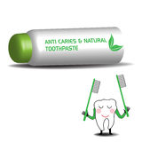 Anti caries toothpaste Royalty Free Stock Image