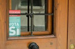 Anti cartaz do navio de cruzeiros na porta, Veneza Imagens de Stock Royalty Free