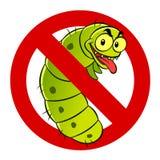 Anti caterpillar sign Royalty Free Stock Photo