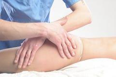 Anti cellulite massage stock image