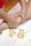 Anti cellulite massage Ventuza body pullers Stock Photo