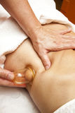 Anti cellulite massage with Ventuza vacuum body puller Royalty Free Stock Photos