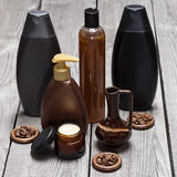Anti--cellulite skönhetsmedel som baseras på koffein fotografering för bildbyråer