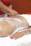 Anti cellulite treatment, body wrapping Royalty Free Stock Image