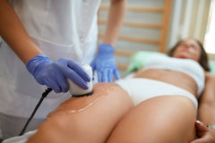 Anti cellulite treatment Royalty Free Stock Images
