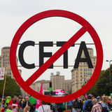 Anti Ceta symbol Stock Photography