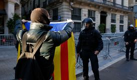 Security in barcelona streets during council of ministers royalty free stock photos
