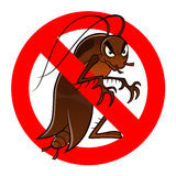 Anti cockroach sign Royalty Free Stock Image