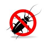Anti cockroach  vector sign for insecticide Royalty Free Stock Image