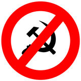 Anti Communism Sign Stock Image