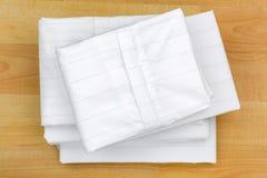 Anti copertura piegata del cuscino dell'acaro della polvere della casa Cassa dentro strettamente tessuta Fotografia Stock