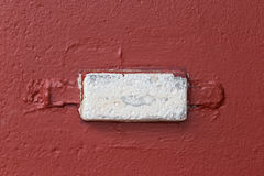 Anti corrosion d'anode sacrificatoire sur la coque photo stock