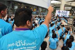 Anti-corruptie Verzameling in Bangkok stock foto's