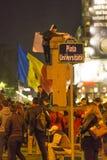 Anti-corruptieprotesten in Boekarest Stock Foto's