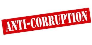 anti corruption Image libre de droits