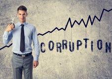 Anti corruption d'homme d'affaires Images stock
