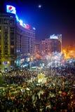 Anti corruption de protestation et gouvernement roumain Photographie stock libre de droits
